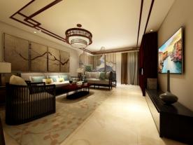 北京古典雅致中式风格三居室装修效果图