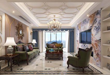 金华古典奢华欧式风格四居室装修效果图
