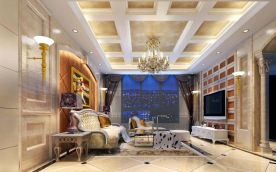 深圳恢弘大气欧式风格四居室装修效果图
