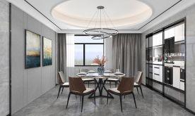 信阳雅致新中式风格三居室装修效果图展示