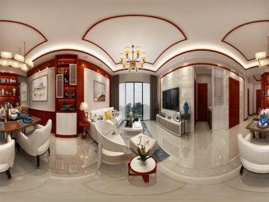 六安古典雅致新中风格二居室装修效果图
