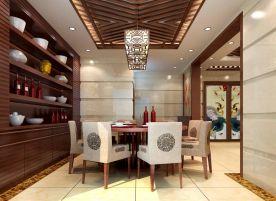 深圳古典韵味中式风格三居室装修效果图