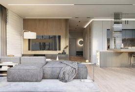 北欧现代风格三室设计