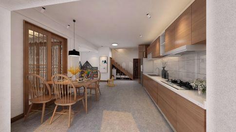 厦门卡达凯斯洋房原木色的简约装修,温润自然很亲切!