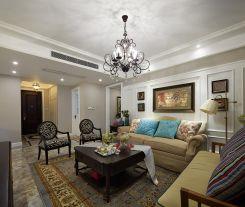 福州160平田园美式三居室装修效果图