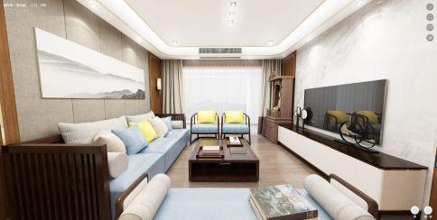 廈門新中式三居室裝修,富有東方韻味的浪漫家居