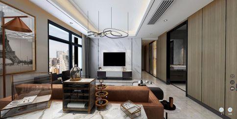 厦门时尚轻奢现代风格四居室装修效果图