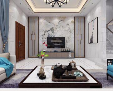 厦门龙湖嘉屿新中式风格别墅装修效果图