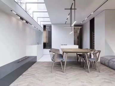 北京极简品质复式装修设计效果图案例