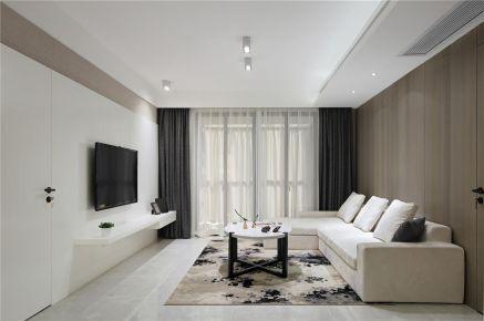 福州110平简约现代三居室装修效果图展示