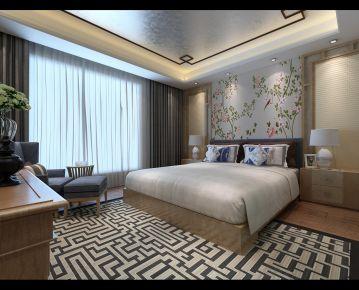 合肥古典雅致新中式三居室装修效果图