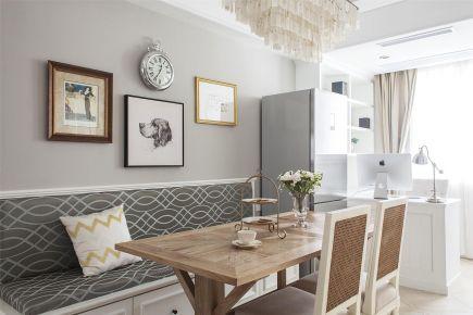 福州120平现代美式三居室装修效果图