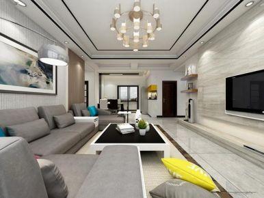 宜昌堡利时代123平现代简约风格三居室装修效果图