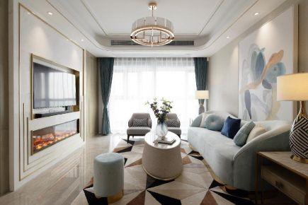 西安中航华府轻奢现代风格三居装饰装修案例