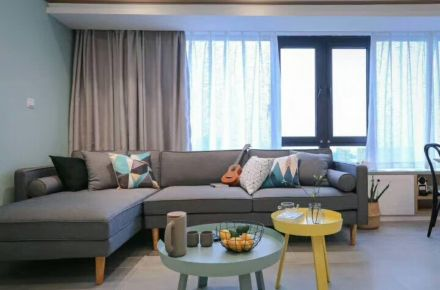 福州70平清新北欧三居室装修效果图展示