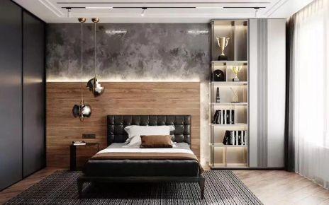 西安华著中城高级灰三居室装饰装修案例