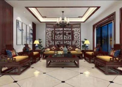 金华古典新中式别墅装修效果图案例展示