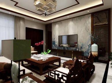 金华恢弘大气中式风格三居室装修效果图