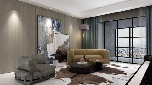杭州时尚大气现代风格三居室装修效果图