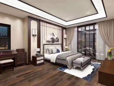 石家庄古典雅致中式四居室装修效果图
