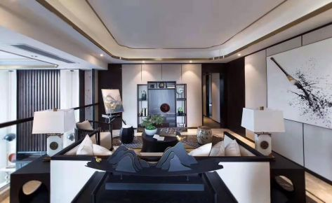石家庄雅致新中式三居装修效果图展示