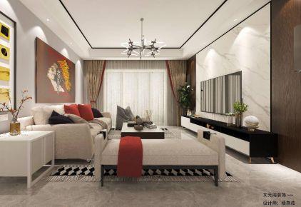 厦门时尚现代简约四居装修案例展示