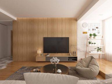 厦门木色极简风复式装修案例展示