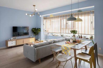 廊坊100㎡温馨北欧3室2厅,清新而实用的惬意生活!