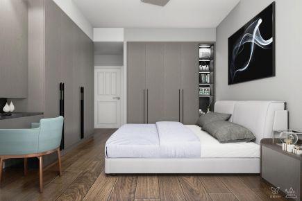 长沙极简黑白灰现代风三居装修效果图案例