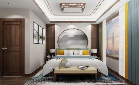 长沙视觉撞色新中式三居装修效果图