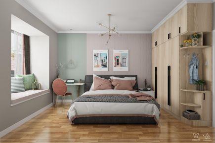 长沙清新北欧风三室装修效果图案例