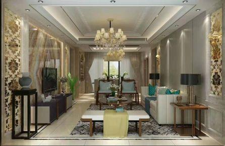 深圳龙华绿景套房欧式风格三居装修效果图