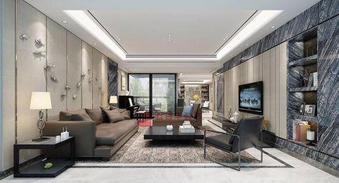 深圳時尚大氣現代風格四居室裝修設計