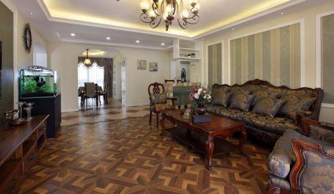 福州120平美式風格三居室裝修效果圖