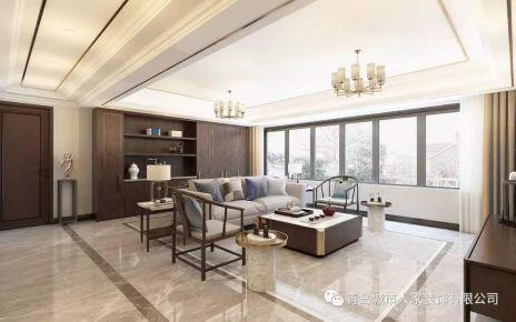 青島漫山新中式風格四居室裝修案例圖