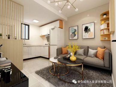青島海爾小區北歐風格一居室裝修案例圖