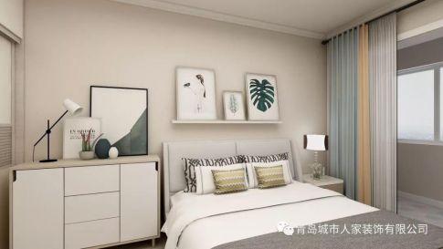 青岛交运广场现代简约风格两居室装修案例图