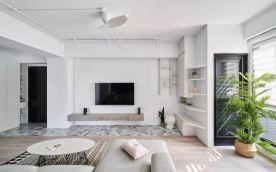 廊坊大学里86平北欧风三居装修,清新自然很有设计感