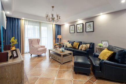 重庆维享家装饰96平三居室现代美式新房装修