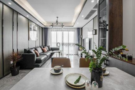 重慶俏業家裝飾北大資源博雅東三房現代風裝修案例