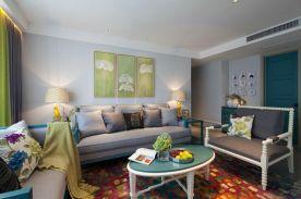 福州美式新古典三居室装修效果图案例