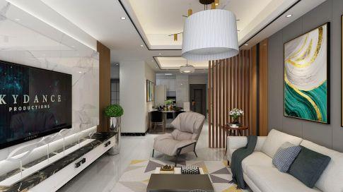 惠州美丽洲95㎡现代简约三居室装饰效果图