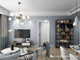 青岛琴海湾北欧风格两居室装修案例图