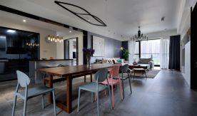 广州简约现代混搭三居室装修图