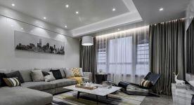 广州新塘简约时尚风三居室效果图