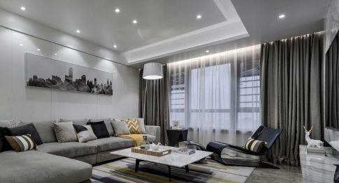 广州新塘现代简约时尚风三居室效果图