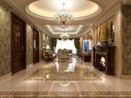 合肥世茂翡翠首府轻奢复古美式四居室装修案例