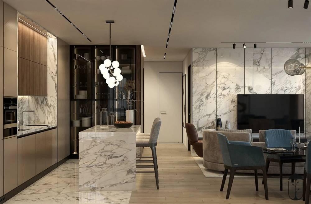 石家庄轻奢现代风三室装修,装扮出一个时尚精致的空间!