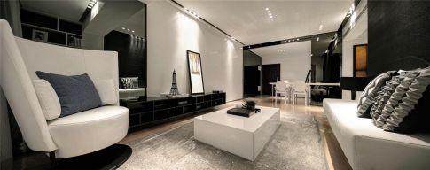 杭州创一居五月花城现代时尚三室装修效果图