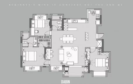 海口现代风三居室装修,格调高雅有品位!
